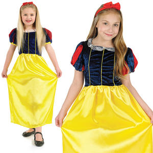 Childrens Snow White Fancy Dress Costume Fairy Tale Princess Outfit 4-12 Yrs