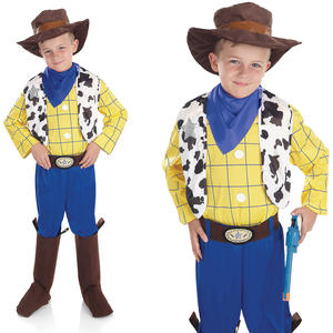 Childrens Cowboy Fancy Dress Costume Western Woody Boy Kids Outfit 4-12 Yrs