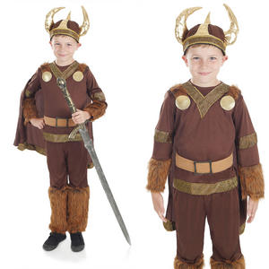 Childrens Viking Boy Fancy Dress Costume The Vikings Warrior Outfit 6-12 Yrs