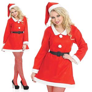 Ladies Santa Sweetie Fancy Dress Costume & Hat Christmas Outfit UK 8-30