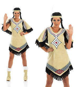 Ladies Deluxe Indian Scout Fancy Dress Costume Pocahontas Outfit Hen Do UK 8-30