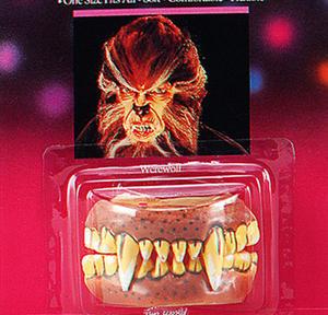 Werewolf Teeth With Fangs Wolfman Wolf Halloween Monster Fancy Dress