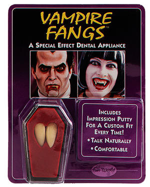 Vampire Teeth Fang Caps Count Dracula Halloween Fancy Dress