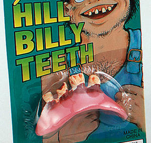 Set Of Fake Teeth Hill Billy Bob Goofy Red Neck Fancy Dress Accessory