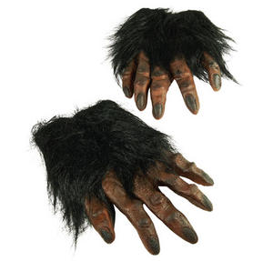 Brown Hairy Hands Halloween Werewolf Fancy Dress