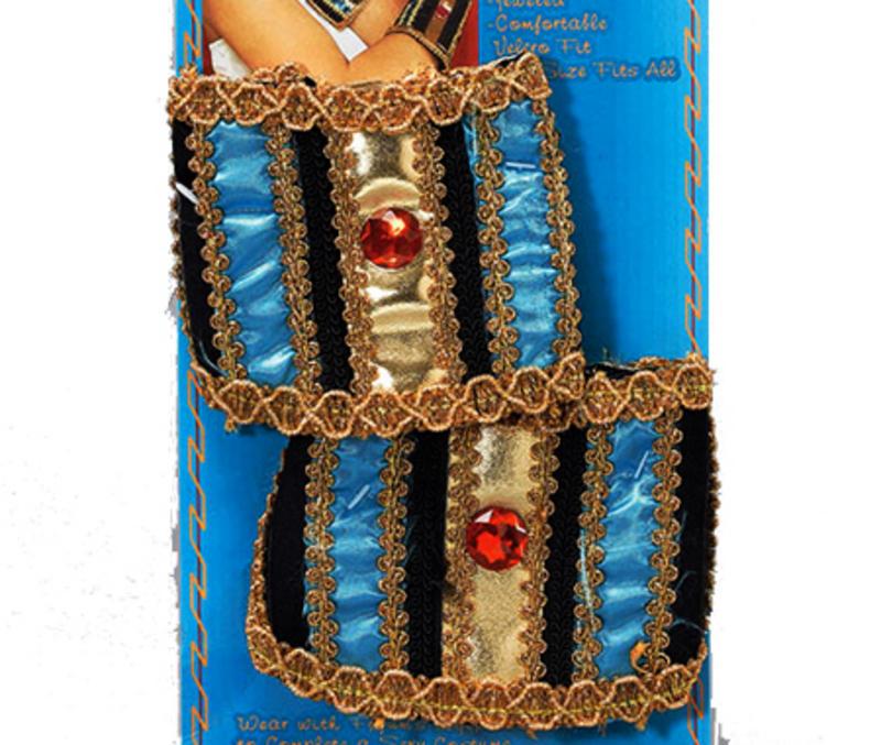 Gold Egyptian Wristbands Cleopatra Julius Caesar Roman Fancy Dress