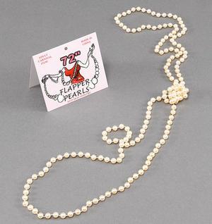 """72"""" Long Faux Pearl Necklace Flapper Fancy Dress"""