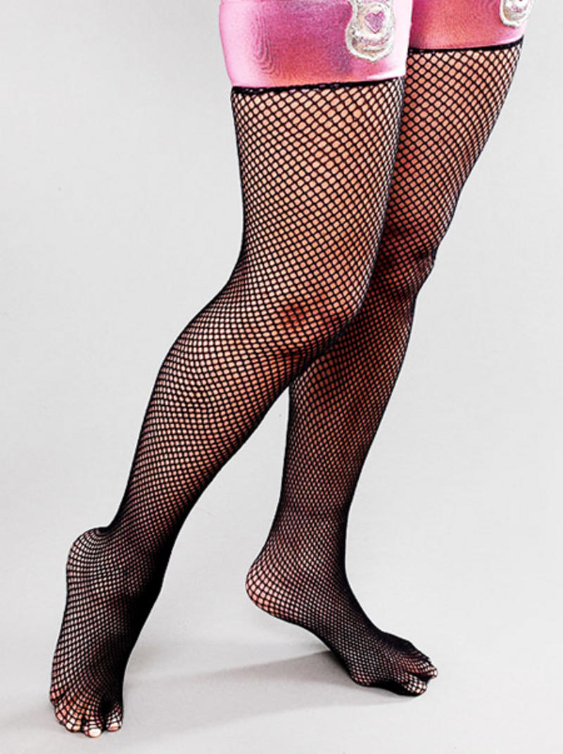 Ladies Black Pink Fishnet Stocking Police Woman Wpc Hen Night Do Fancy Dress