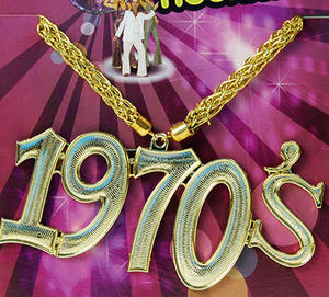 Glitter Necklace 1970'S Hippy Austin Powers Diva Flower Power Pimp Fancy Dress