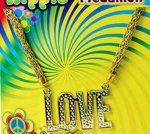 'Love' Necklace 70'S Hippy Flower Power Austin Powers Festival Fancy Dress