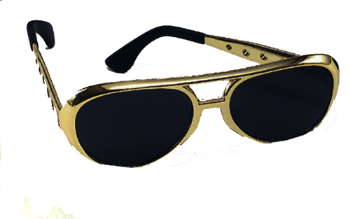 Gold Elvis Presley Sunglasses Glasses The King Fancy Dress