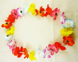 Hawaiian Silk Flower Leis Necklace Fancy Dress