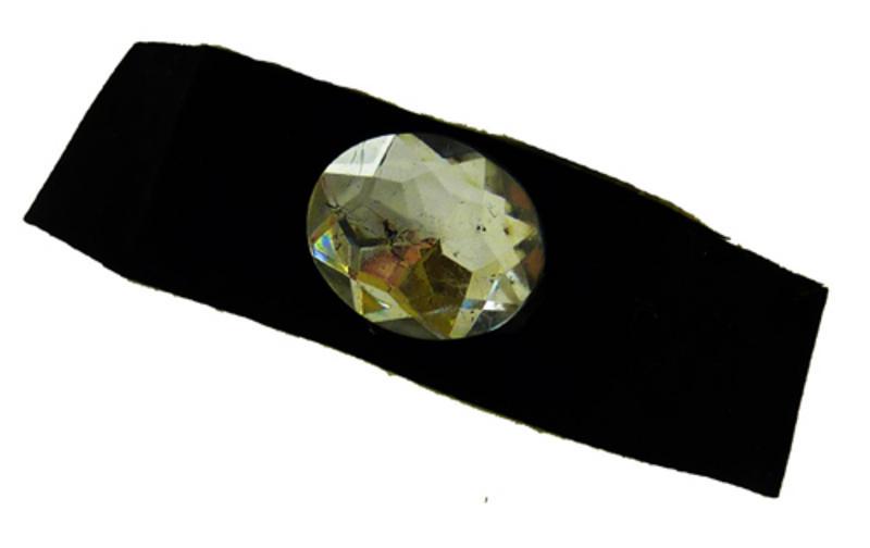 Ladies Black Choker With Diamond Jewel Charleston Victorian Royal Fancy Dress