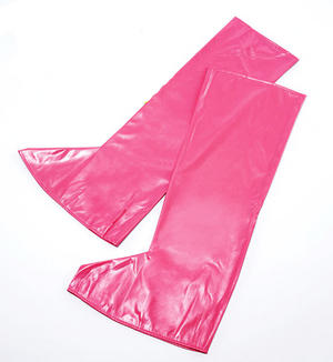 Pink Gogo Girl Boot Tops Retro 70'S Disco Diva Austin Powers Style Fancy Dress