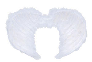 Childrens White Feather Wings Angel Gabriel Fancy Dress Costume Nativity Play