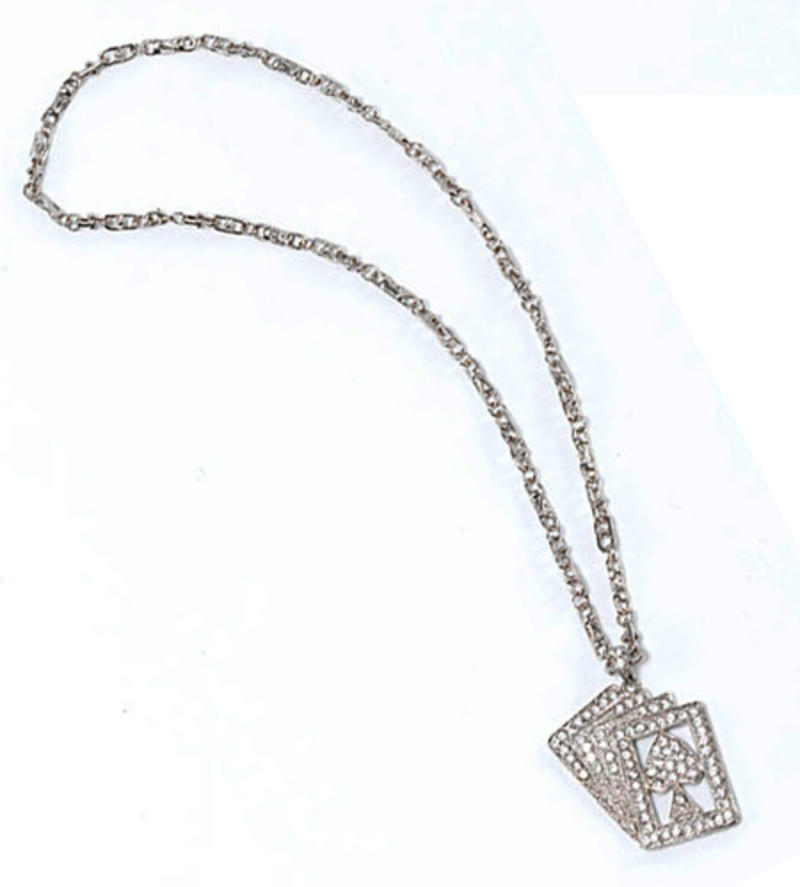 Playing Card Necklace Poker Magician Fancy Dress