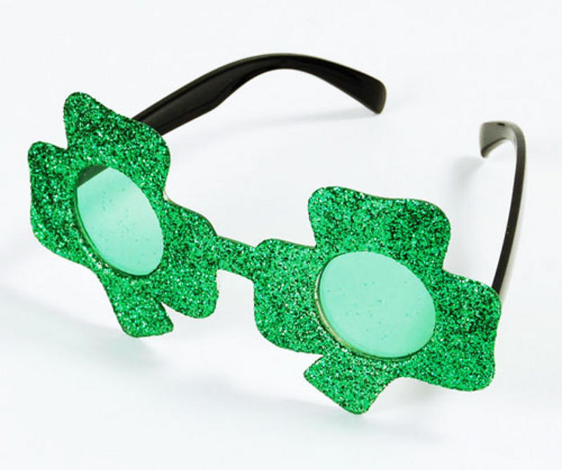 Green Irish Clover Glasses Sunglasses St Patricks Day Irish Fancy Dress
