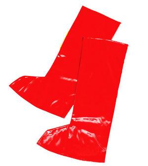 Red Gogo Go Go Girl Boot Tops Austin Powers Retro 60'S 70'S Fancy Dress