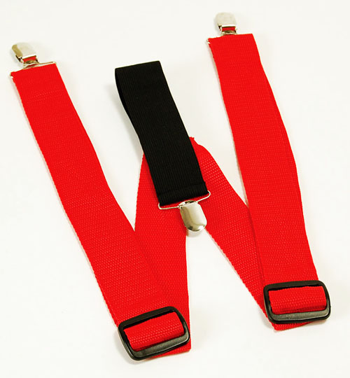 Red Braces Circus Clown Gangster Adjustable Suspenders Fancy Dress