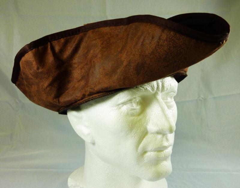 Brown Pirate Tricorn Hat Jack Sparrow Fancy Dress