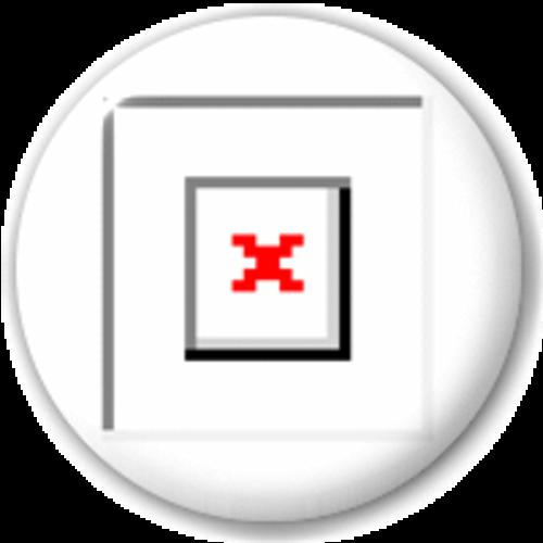 Small 25mm Lapel Pin Button Badge Novelty Broken Image