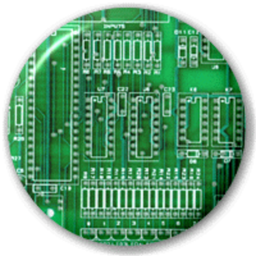 Small 25mm Lapel Pin Button Badge Novelty Circuit Board Electrician