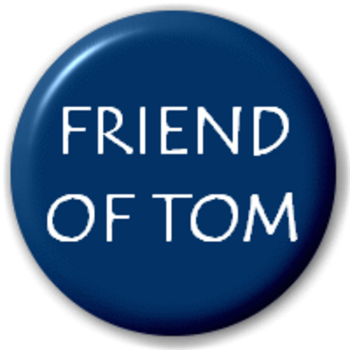 Small 25mm Lapel Pin Button Badge Novelty Friend Of Tom Myspace