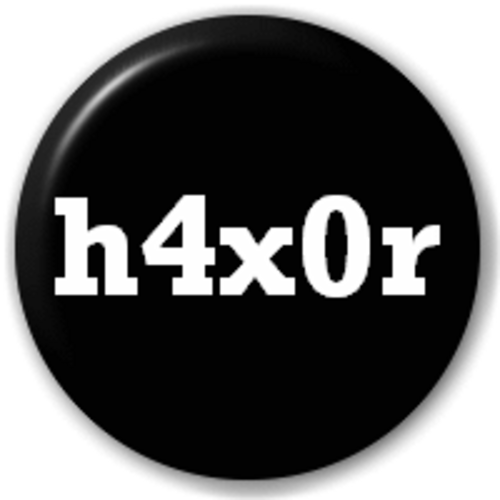 Small 25mm Lapel Pin Button Badge Novelty H4X0R Novelty Badge