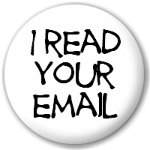 Small 25mm Lapel Pin Button Badge Novelty I Read Your Email