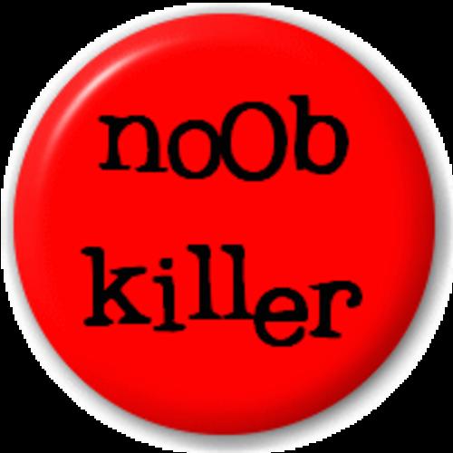 Small 25mm Lapel Pin Button Badge Novelty N00B - Noob Killer Badge