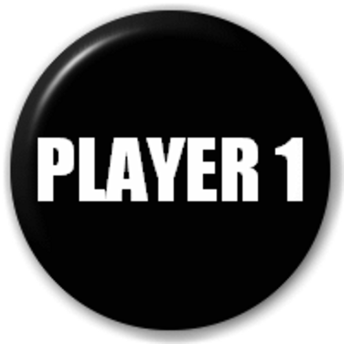Small 25mm Lapel Pin Button Badge Novelty Player 1 (Arcade Game)