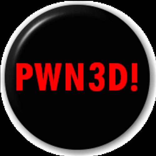 Small 25mm Lapel Pin Button Badge Novelty Pwn3D - Msn Slang