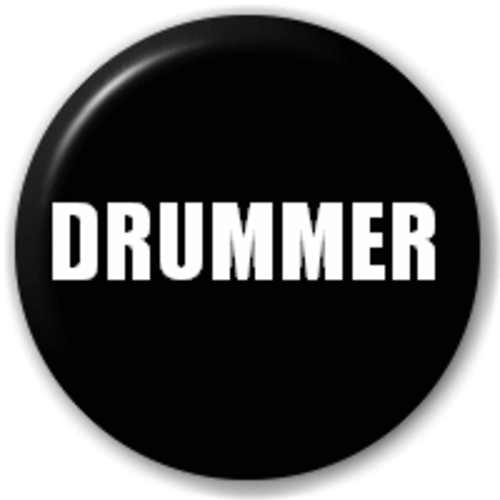 Small 25mm Lapel Pin Button Badge Novelty Drummer