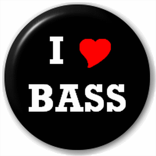 Small 25mm Lapel Pin Button Badge Novelty I Love Bass