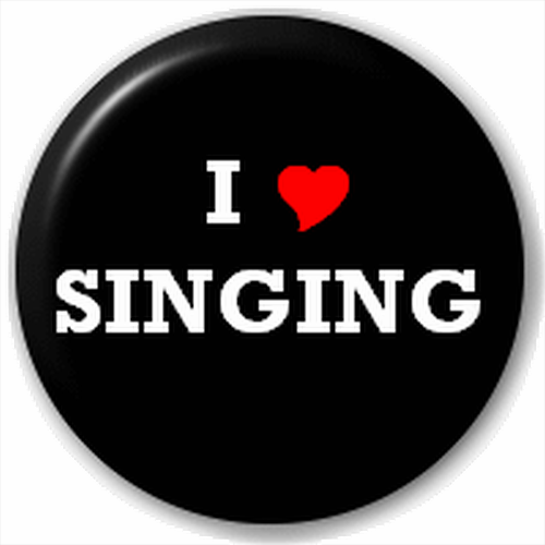 Small 25mm Lapel Pin Button Badge Novelty I Love Singing