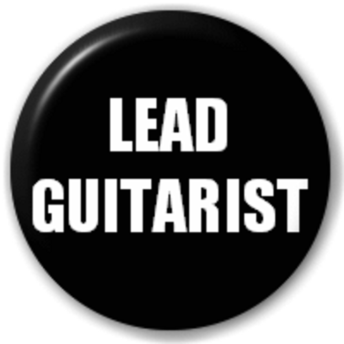 Small 25mm Lapel Pin Button Badge Novelty Lead Guitarist