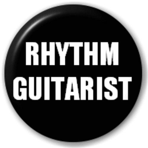 Small 25mm Lapel Pin Button Badge Novelty Rhythm Guitarist