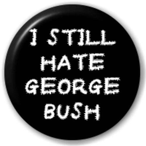 Small 25mm Lapel Pin Button Badge Novelty Hate George Bush