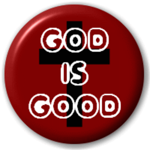 Small 25mm Lapel Pin Button Badge Novelty God Is Good