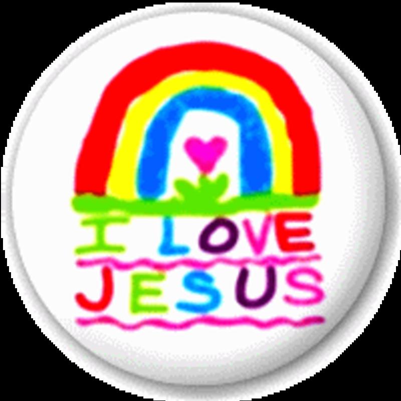 Small 25mm Lapel Pin Button Badge Novelty I Love Heart Jesus Christia