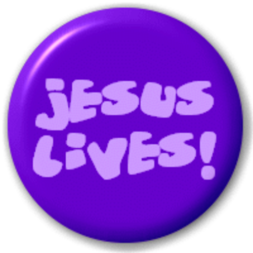 Small 25mm Lapel Pin Button Badge Novelty Jesus Lives