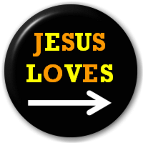 Small 25mm Lapel Pin Button Badge Novelty Jesus Loves