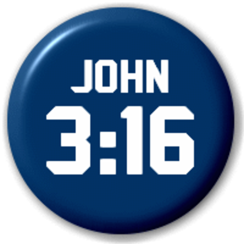 Small 25mm Lapel Pin Button Badge Novelty John 3:16 Bible Refrence
