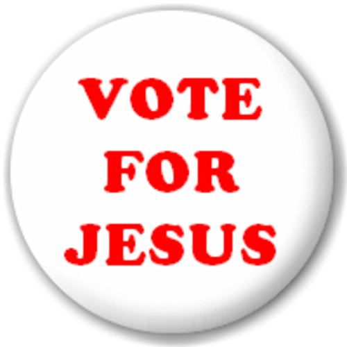 Small 25mm Lapel Pin Button Badge Novelty Vote For Jesus