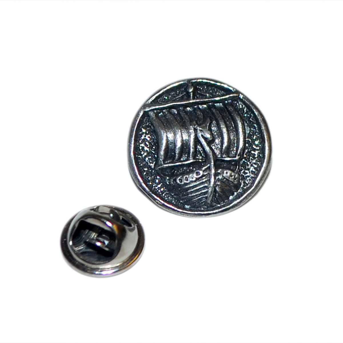 Details about Viking Longboat Lapel Pin Pin Back Badge In British Pewter Gifts For Him
