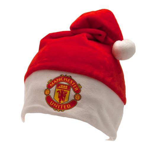 Manchester United Fc Man Utd Supersoft Christmas Novelty Elf Santa Hat Manchester United Retail Zone