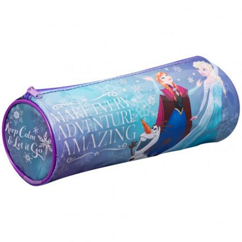 Disneys Frozen Anna Elsa Barrel Pencil Case