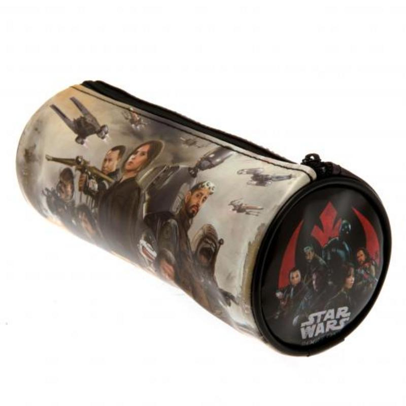 Star Wars Rogue One Barrel Clear Pencil Case With Strong Zip