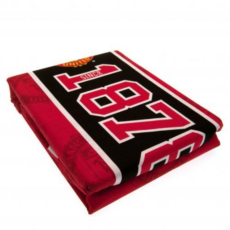 Manchester United Fc Man Utd Reversible Double Duvet Quilt Cover Set Pillow Cases Es Manchester United Retail Zone