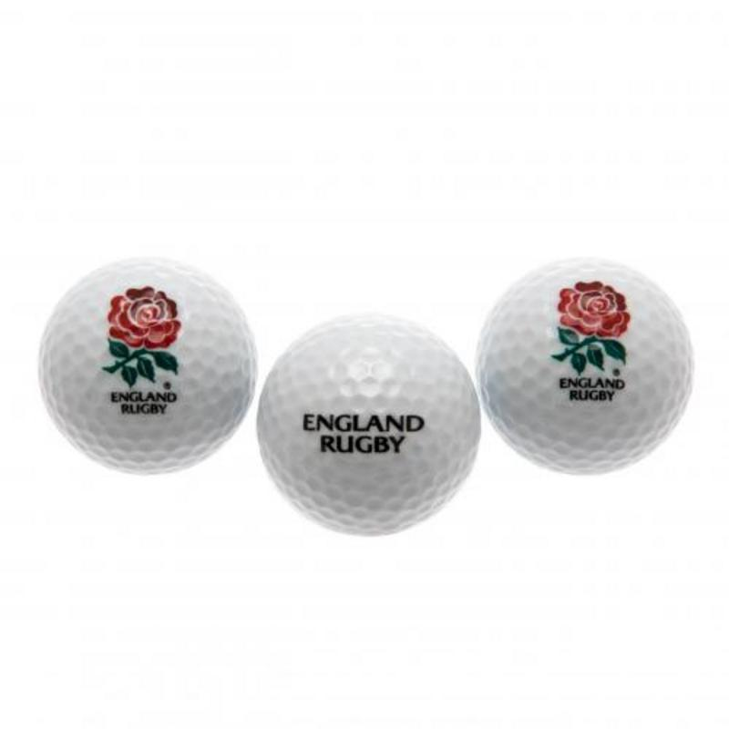 England Rugby Team English RFU Golf Balls - Pack Of 3